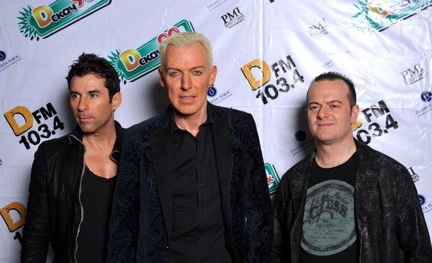 Scooter kuvattuna Pietarissa tänä vuonna. Yhtye on todennäköisesti ollut tietoinen Krimin kriisin aiheuttamasta kauppaboikotista, joka koskee myös musiikkivientiä.