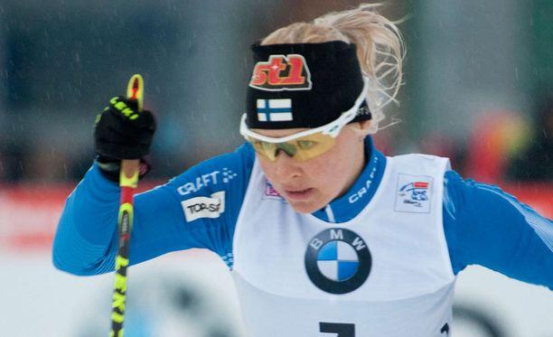 Riitta-Liisa Roponen voitti naisten kympin.