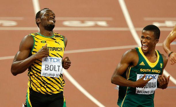Väsymystä valitellut Usain Bolt kellotti mainion ajan, vaikka hölläsikin tutusti lopussa.