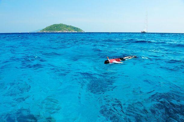 Venäläismies ajautui avomerelle Thaimaassa snorklausretken aikana. Kuvituskuva.