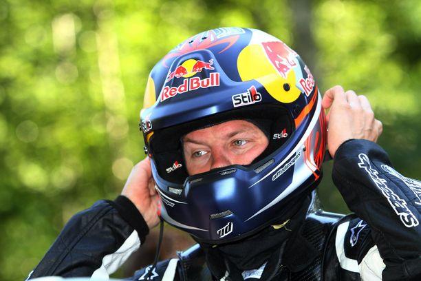 Kimi Räikkönen puki toisenlaisen kypärän päähänsä kymmenen vuotta sitten.