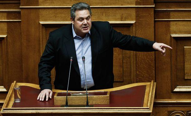 Puolustusministeri Panos Kammenos uhkasi ohjata Saksaan pakolaisvirran. Joukossa saattaisi olla jopa Isisin jäseniä.