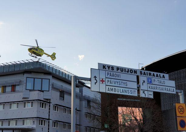 Sairaalaan oli tilattu helikopteri, jolla potilas olisi voitu viedä leikkaukseen. Arkistokuva, joka ei liity tapaukseen.