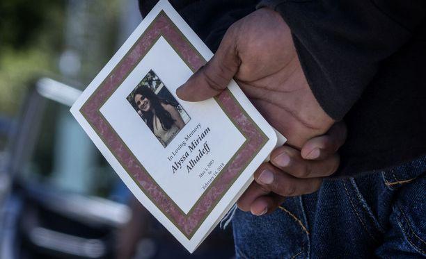 Alyssa Alhadeff kuoli keskiviikkona tapahtuneessa kouluampumisessa.