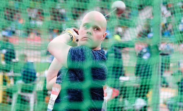 David Söderberg heittänee Lontoon MM-kisoissa.