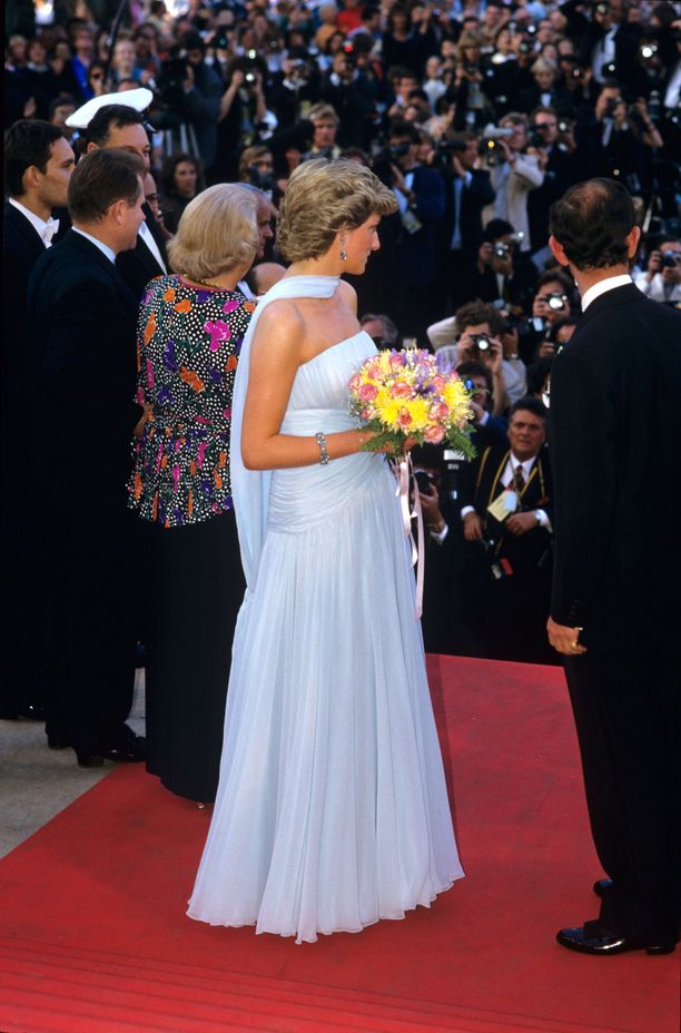Prinsessa Diana Cannesissa vuonna 1987.