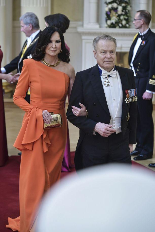 Elina Kanerva oli jälleen yksi Linnan juhlien tyylikkäimpiä naisia vuonna 2019.