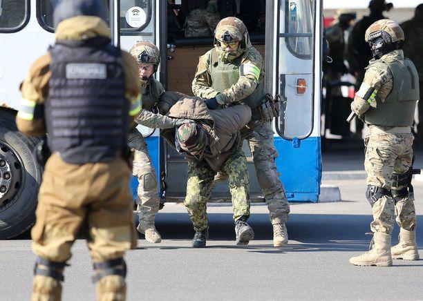 Vuonna 2015 Venäjä harjoitteli terrorismin vastaista toimintaa Kaliningradissa.
