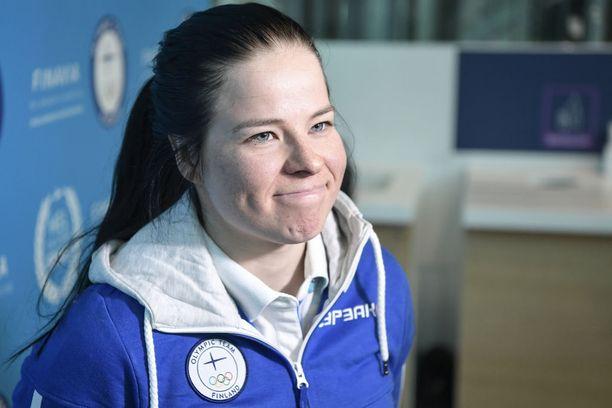 Krista Pärmäkoski selvisi viime viikonlopun kuumeesta säikähdyksellä ja lähti luottavaisena olympialaisiin.