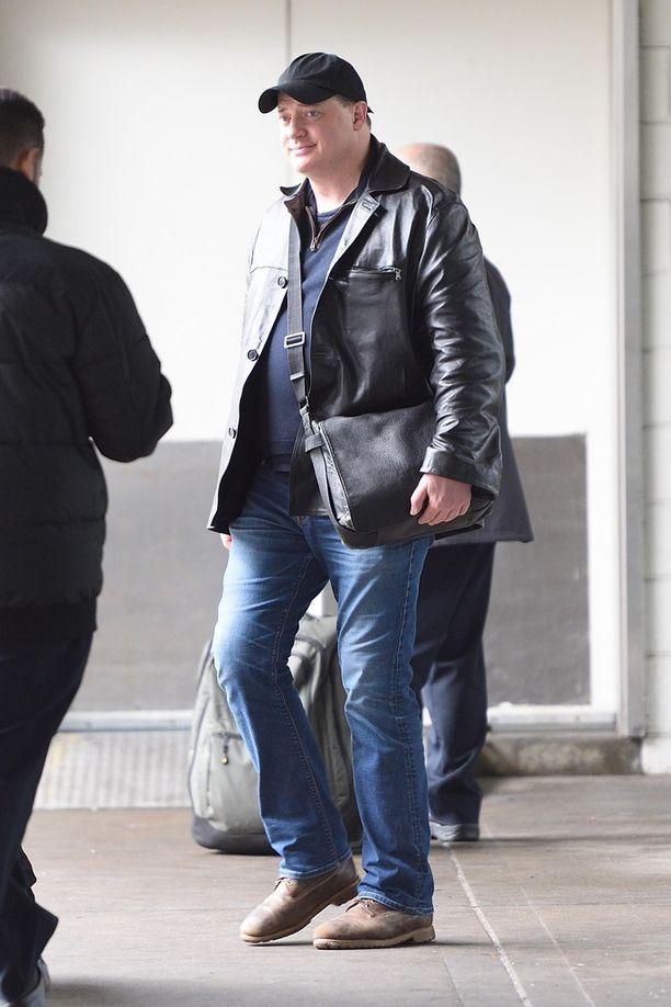 Brendan Fraser ikuistettiin keväällä 2018 saapumassa JFK-lentokentälle New Yorkissa.