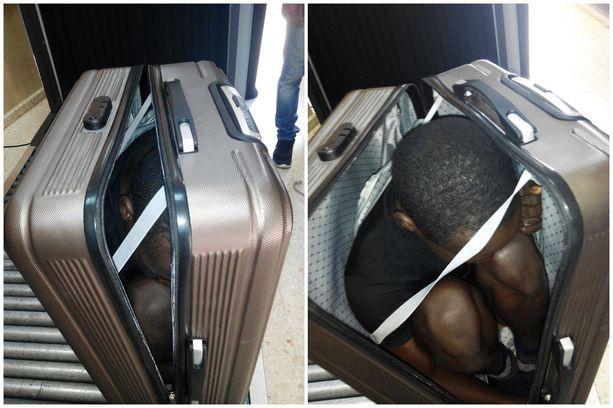 Espanjan poliisi pidätti 30. päivä joulukuuta naisen, joka yritti salakuljettaa matkalaukussaan Saharan eteläpuolisesta Afrikasta kotoisin olevan miehen Marokosta Espanjalle kuuluvaan Ceutan kaupunkiin.