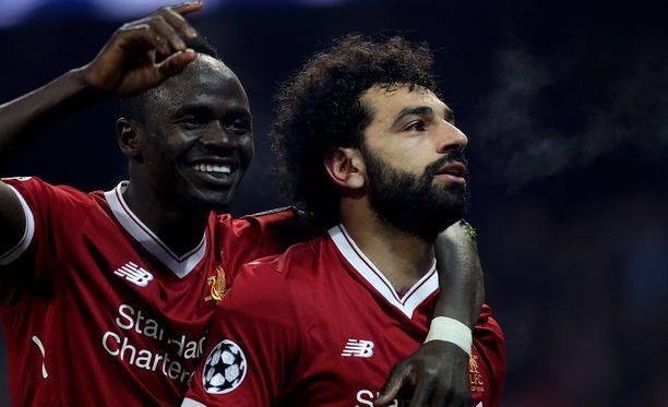 Sadio Mane ja Mohamed Salah kurmottivat Bournemouthia.