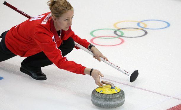 Helle Simonsen edusti Tanskaa Sotshin olympiakisoissa.