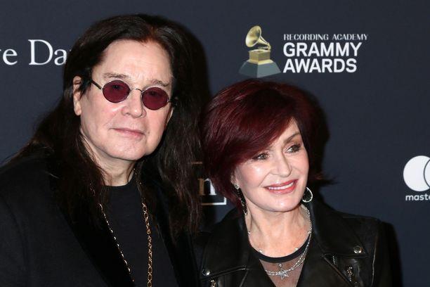 Ozzy Osbourne ja Sharon Osbourne tammikuussa 2020.