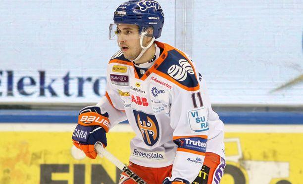 Matti Järvinen ratkaisi voiton Tapparalle.