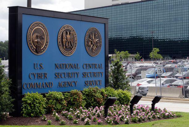 NSA:n päärakennus Yhdysvaltojen Marylandissa.