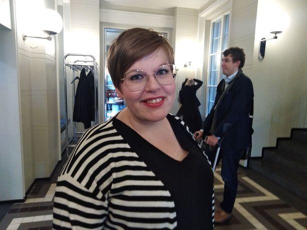 Kansanedustaja Annika Saarikko (kesk).