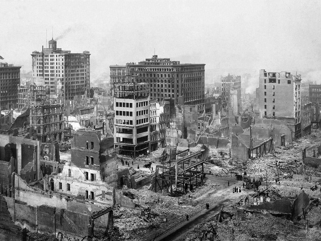 Maa järisi San Franciscossa 18. huhtikuuta 1906. Mullistuksessa sai surmansa yli 3000 ihmistä, ja sen sytyttämät tulipalot raivosivat raunioissa useiden päivien ajan.