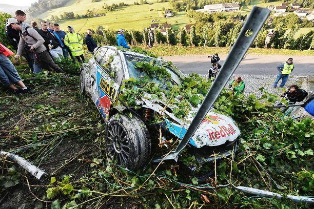 Latvalan romuttunut Volkswagen Saksassa 2014.