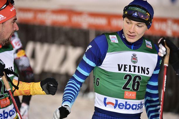 Eero Hirvonen (oik.) oli paras suomalainen yhdistetyn kisassa.
