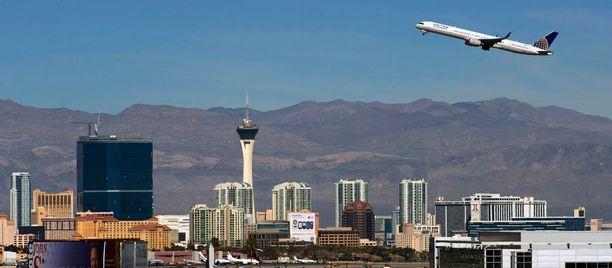 Las Vegasin kenttä sijaitsee keskellä kaupungin sykettä.