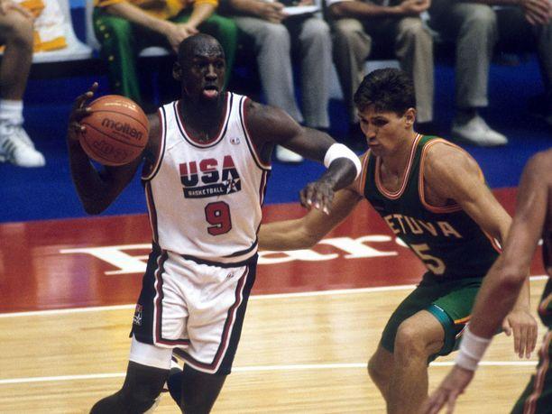 Michael Jordan pelasi ysipaidalla olympialaisissa kesällä 1992.