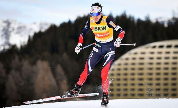 Heidi Weng hiihti voittoon. Arkistokuva.