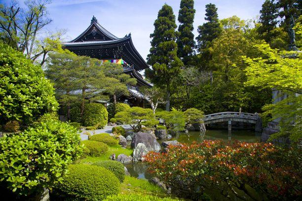 Japanilaisen puutarhan tunnelma on levollinen.