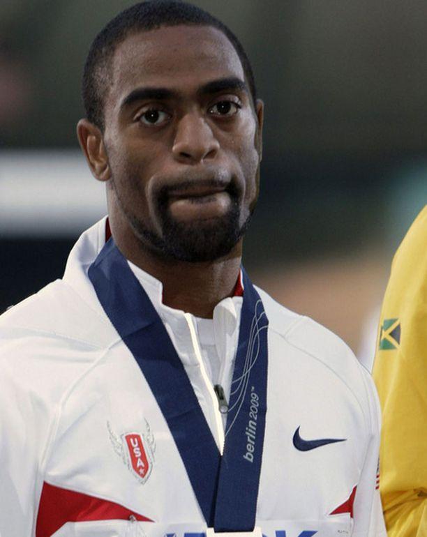 Tyson Gayta ei hymyilyttänyt 100 metrin palkintojenjaossa.