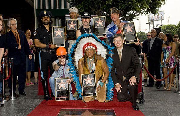 Village People sai oman tähtensä kuuluisalle tähtikadulle, Walk of Famelle viime perjantaina.