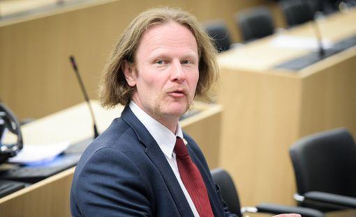 Perussuomalaisten kansanedustaja Juho Eerola.