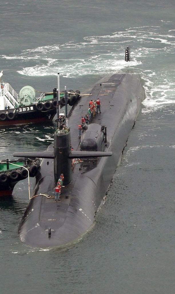 USS Michigan saapui Korean niemimaan eteläkärjessä sijaitsevaan Busaniin tänään.