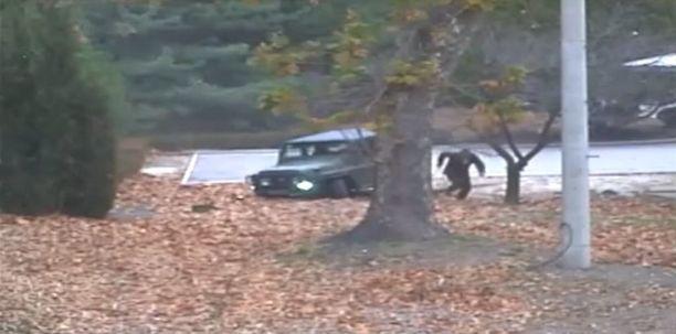 Sotilaan dramaattinen loikkaus Pohjois-Koreasta Etelä-Koreaan tallentui videolle.
