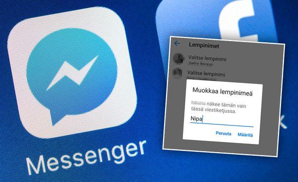 Messengerissä voi vaihtaa kaverilleen lempinimen.