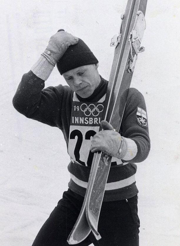 """Isosta mäestä tuli """"vain hopeaa"""" Innsbruckin olympialaisissa 1964. Pikkumäestä Kankkonen otti kultaa."""