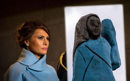 Melania Trumpin patsas sytytettiin tuleen Sloveniassa