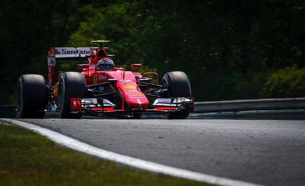 Kimi Räikkösen kolmannet harjoitukset Hungaroringin helteisellä radalla eivät menneet putkeen.