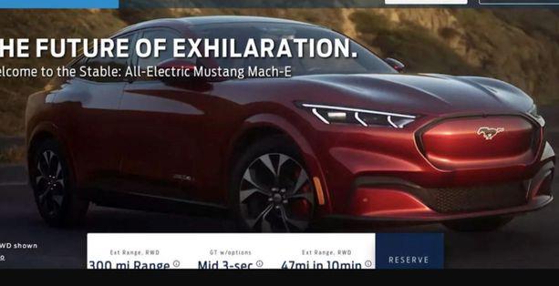 Etusäleikköä ei tarvita sähköauton moottorin jäähdytykseen. Vahva muoto. (Kuvakaappaus lähde: Autocar-lehti/Ford)