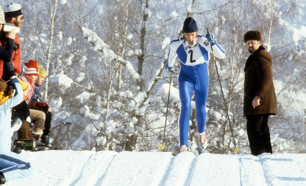 Juha Mieto sai vuoden 1978 Lahden MM-kisojen viidelläkympillä osakseen kovaa huutelua pettyneiltä suomalaiskatsojilta. Arkistokuva vuodelta 1979.
