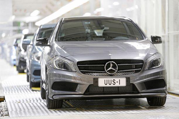 Suomessakin valmistettava A-sarjan Mercedes oli vähävikaisin alle 100 000 km kilometreillä.