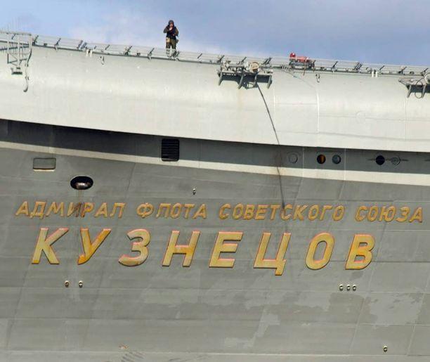 Kuznetsov kuvattiin perjantaina Englannin kanaalissa.
