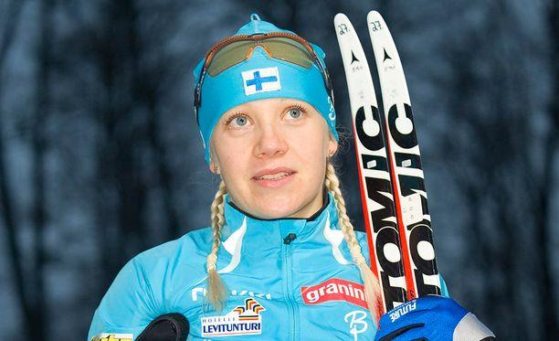 Kaisa Mäkäräinen kaipasi jo nuorena pois Kainuusta. Urheilu oli hänelle keino maailmalle.