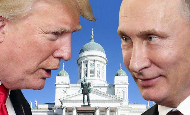 Donald Trump ja Vladimir Putin tapaavat tulevana maanantaina Helsingissä.