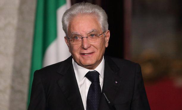 Italian presidentti Sergio Mattarella ja hänen tyttärensä saapuvat Suomeen ensi viikolla.
