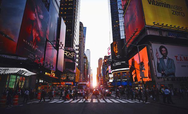 New York on monelle se ensimmäinen kohde Yhdysvalloissa.
