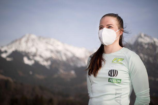 Krista Pärmäkoski on saanut Alpeille kannustusviestejä Antti Tuiskulta.
