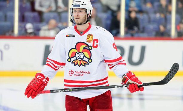 Peter Regin laukoi Jokerien 1-1-maalin Moskovassa.