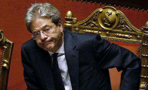 Italian uusi pääministeri Paolo Gentiloni senaatin äänestyksen aikana.