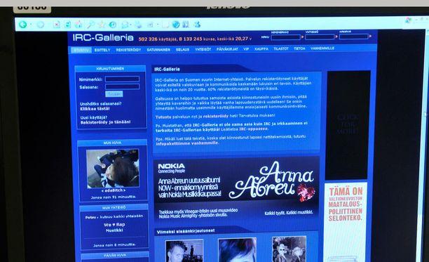 Kuva on vuodelta 2008, eli IRC-Gallerian ulkoasu ei vuosien varrella ole merkittävästi muuttunut.