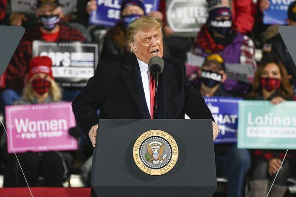 Trump kampanjoi viimeksi Minnesotassa syyskuun viimeisenä päivänä.